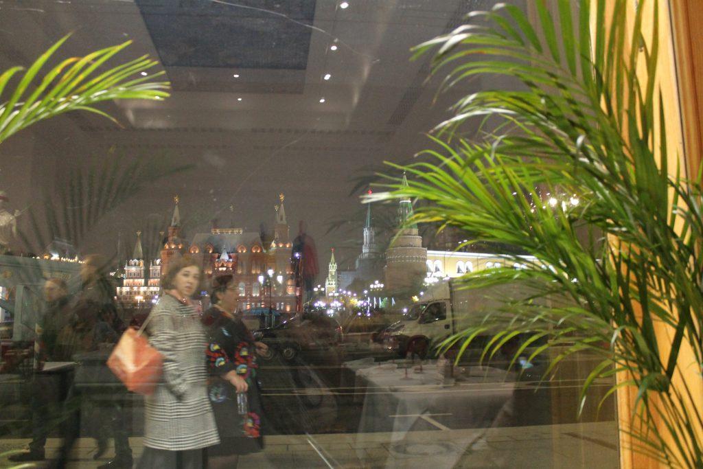 Blick aus dem Dr. Schiwago auf den Roten Platz.